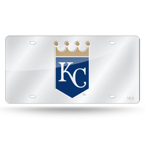 Kansas City Royals License Plate Laser Cut Silver