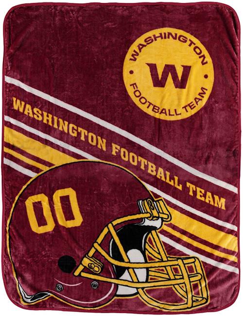 Washington Football Team Blanket 60x80 Raschel Slant Design