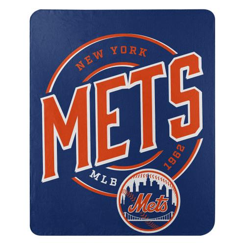 New York Mets Blanket 50x60 Fleece Campaign Design
