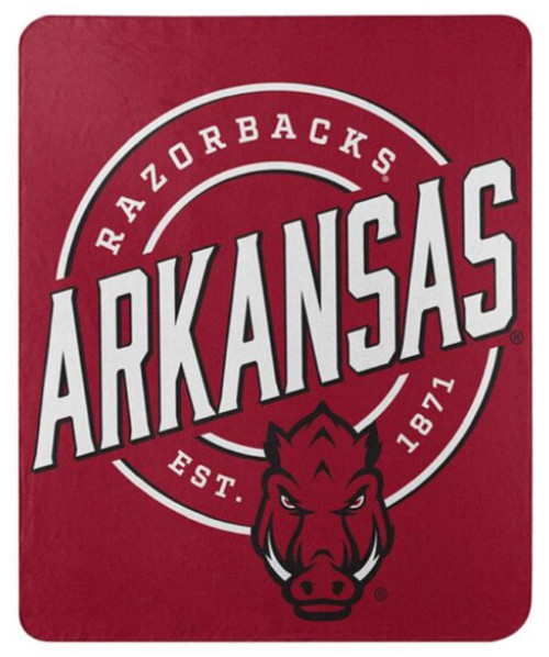 Arkansas Razorbacks Blanket 50x60 Fleece Campaign Design