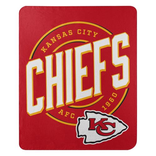 Kansas City Chiefs Blanket 50x60 Fleece Campaign Design