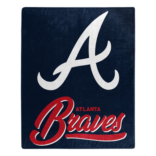 Atlanta Braves Blanket 50x60 Raschel Signature Design
