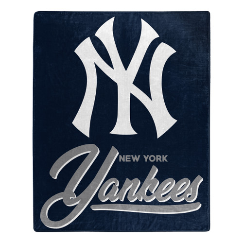 New York Yankees Blanket 50x60 Raschel Signature Design