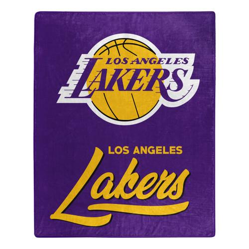 Los Angeles Lakers Blanket 50x60 Raschel Signature Design