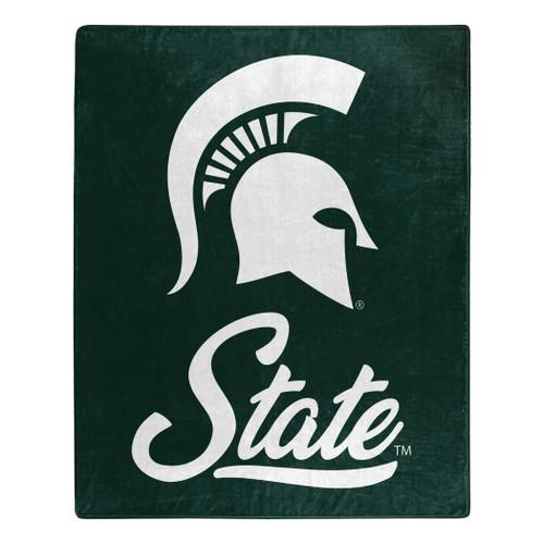 Michigan State Spartans Blanket 50x60 Raschel Signature Design