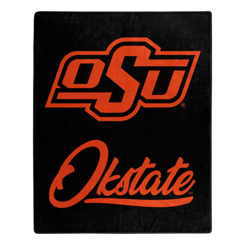 Oklahoma State Cowboys Blanket 50x60 Raschel Signature Design
