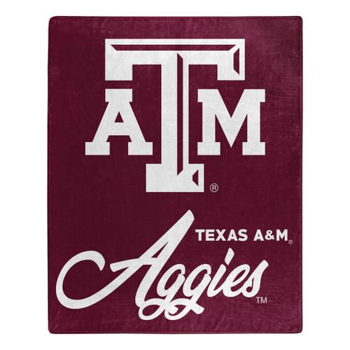 Texas A&M Aggies Blanket 50x60 Raschel Signature Design