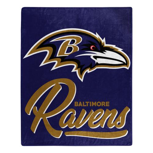 Baltimore Ravens Blanket 50x60 Raschel Signature Design