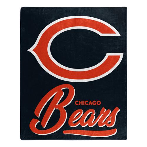 Chicago Bears Blanket 50x60 Raschel Signature Design