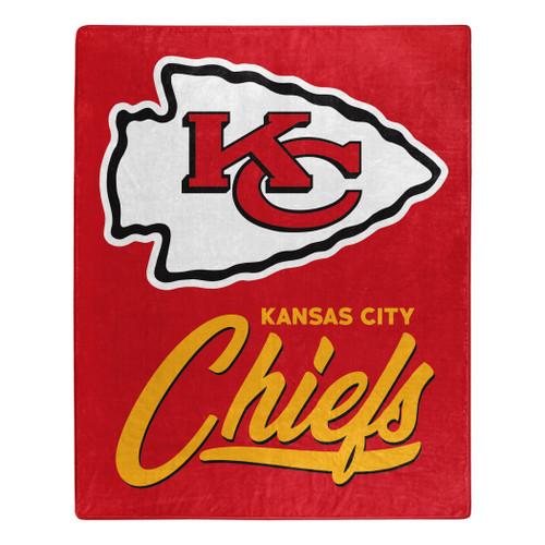 Kansas City Chiefs Blanket 50x60 Raschel Signature Design