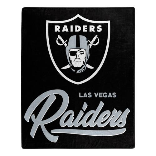 Las Vegas Raiders Blanket 50x60 Raschel Signature Design