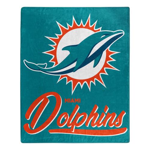 Miami Dolphins Blanket 50x60 Raschel Signature Design