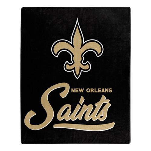 New Orleans Saints Blanket 50x60 Raschel Signature Design