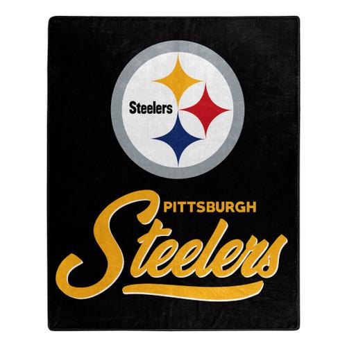 Pittsburgh Steelers Blanket 50x60 Raschel Signature Design