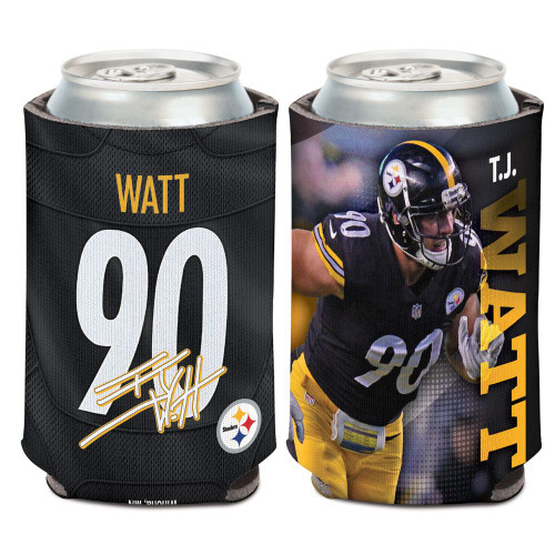 Pittsburgh Steelers Can Cooler TJ Watt Design
