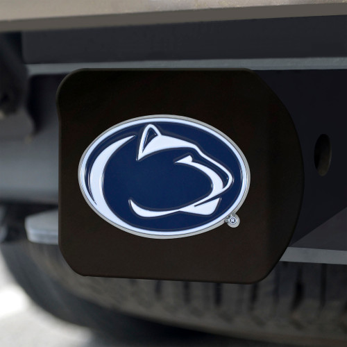 Penn State Nittany Lions Hitch Cover Color Emblem on Chrome - Special Order