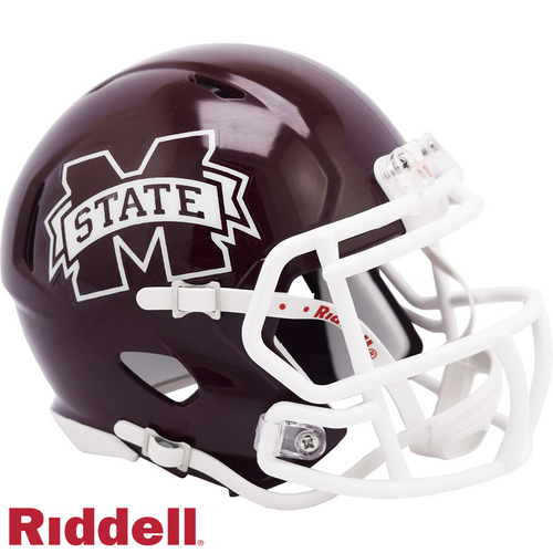Mississippi State Bulldogs Helmet Riddell Authentic Full Size Speed Style - Special Order