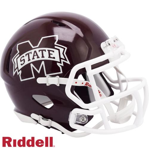 Mississippi State Bulldogs Helmet Riddell Replica Full Size Speed Style - Special Order