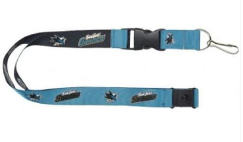 San Jose Sharks Lanyard Reversible Teal/Black
