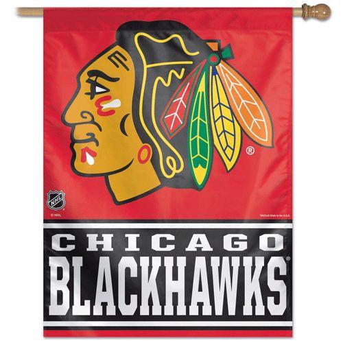 Chicago Blackhawks Banner 28x40 Vertical - Special Order