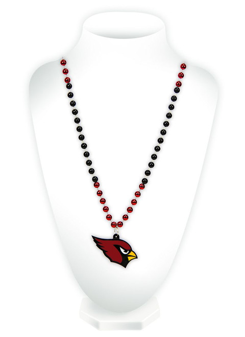Arizona Cardinals Beads with Medallion Mardi Gras Style - Special Order