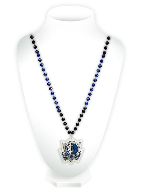 Dallas Mavericks Beads with Medallion Mardi Gras Style - Special Order
