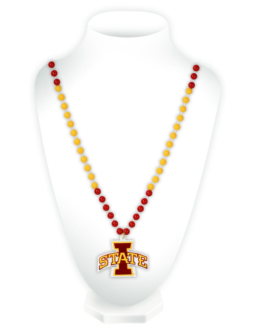Iowa State Cyclones Beads with Medallion Mardi Gras Style - Special Order