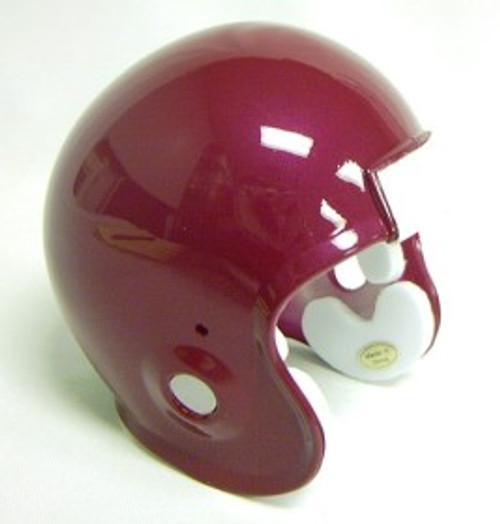 Micro Football Helmet Shell - Cardinal Metallic