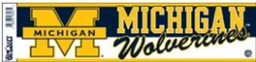 Michigan Wolverines Bumper Sticker
