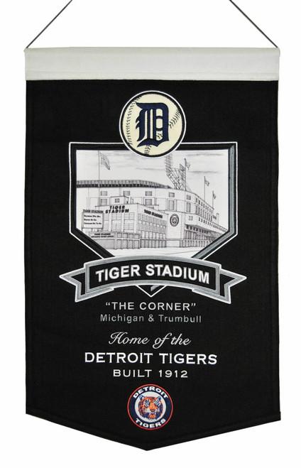 Detroit Tigers Banner 15x24 Wool Stadium Tiger Stadium