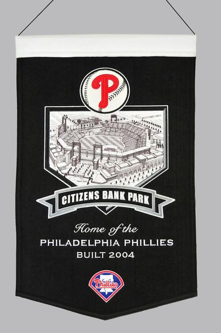 Philadelphia Phillies Banner 15x24 Wool Stadium Citizens Bank Park
