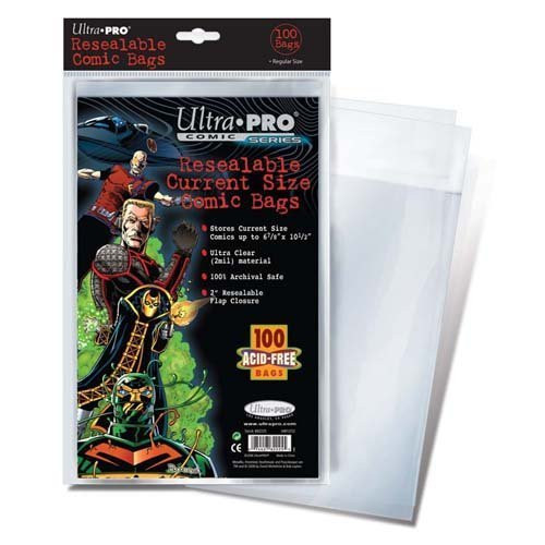 Comic Bag - Current Size - Resealable (100 per pack)