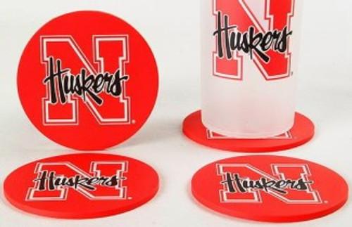 Nebraska Cornhuskers Coaster Set - 4 Pack