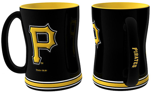 Pittsburgh Pirates Coffee Mug - 14oz Sculpted Relief