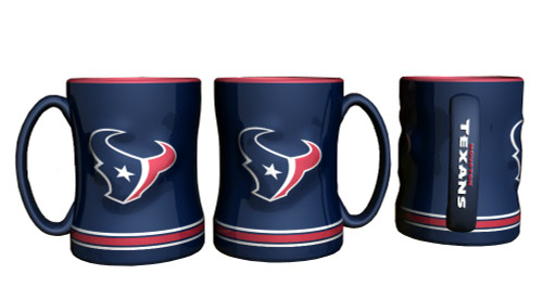 Houston Texans Coffee Mug - 14oz Sculpted Relief