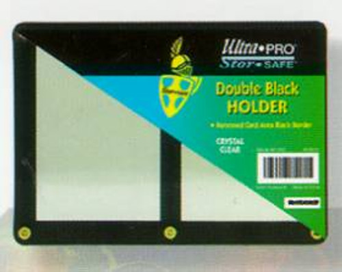 Double Black Card Holder