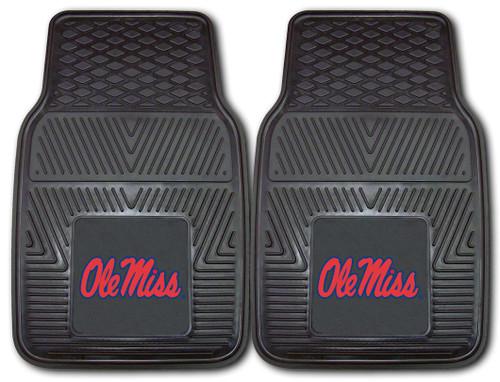 Mississippi Rebels Heavy Duty 2-Piece Vinyl Car Mats - Special Order