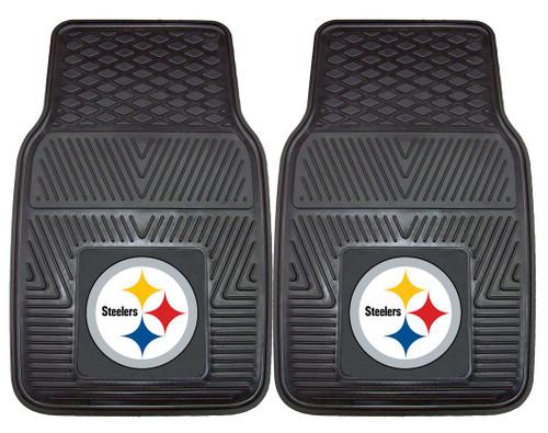 Pittsburgh Steelers Car Mats Heavy Duty 2 Piece Vinyl