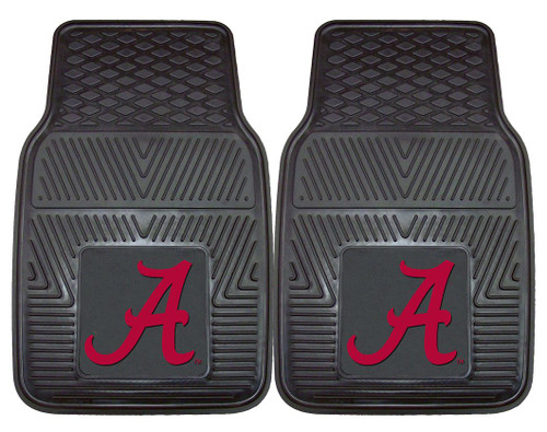 Alabama Crimson Tide Heavy Duty 2-Piece Vinyl Car Mats