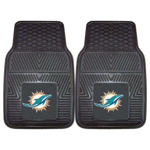 Miami Dolphins Car Mats Heavy Duty 2 Piece Vinyl