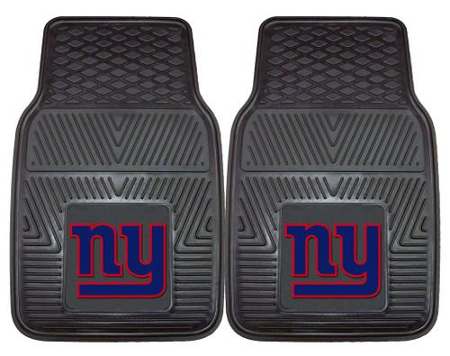 New York Giants Car Mats Heavy Duty 2 Piece Vinyl