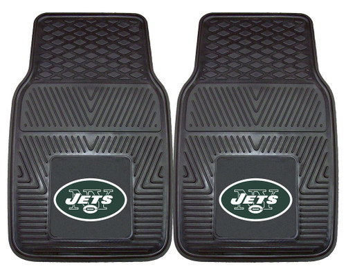 New York Jets Car Mats Heavy Duty 2 Piece Vinyl - Special Order