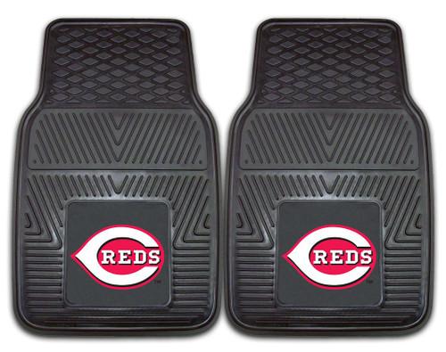 Cincinnati Reds Heavy Duty 2-Piece Vinyl Car Mats - Special Order