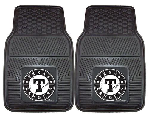 Texas Rangers Heavy Duty 2-Piece Vinyl Car Mats - Special Order