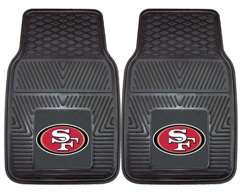 San Francisco 49ers Car Mats Heavy Duty 2 Piece Vinyl