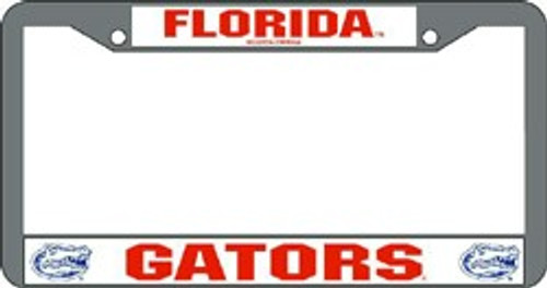Florida Gators License Plate Frame Chrome
