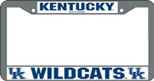 Kentucky Wildcats License Plate Frame Chrome