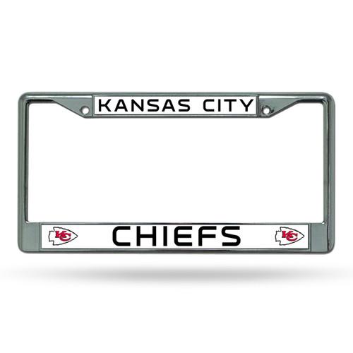 Kansas City Chiefs License Plate Frame Chrome