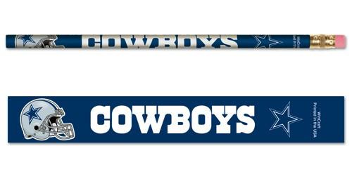 Dallas Cowboys Pencil 6 Pack