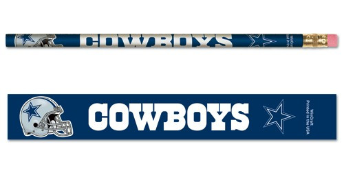 Dallas Cowboys Pencil 6 Pack